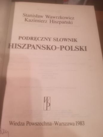 Podręczny słownik hiszpańsko - Polski.