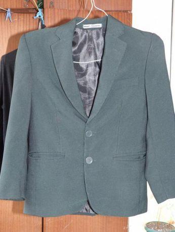 Пиджак школьный зеленый, рост 128, брюки