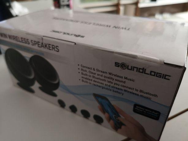 Bezprzewodowe głośniki Sooundlogic czarne/białe bluetootch