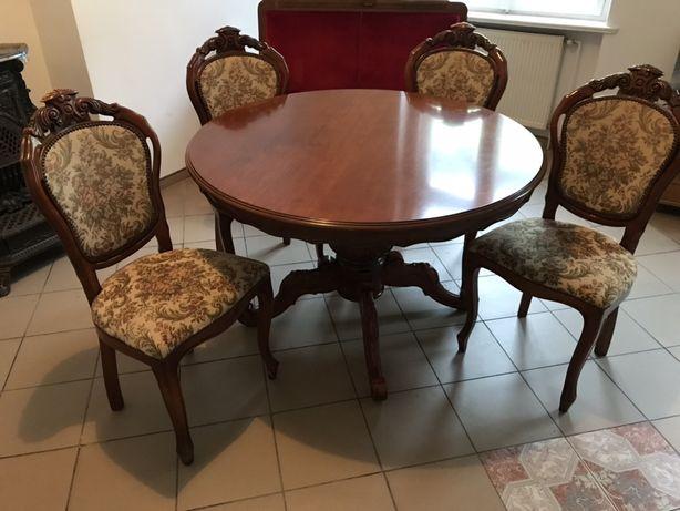 Stół i 4 krzesła Styl Ludwik