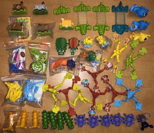 Kinder niespodzianka figurki zbiór stare serie pieczątki skoczki kroko