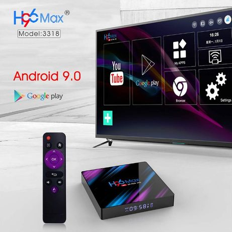 Smart Android 9.0 Box TV H96 16GB 2GB MAX caixa Wifi HD 4k canais