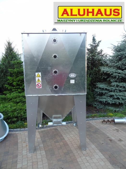 Zbiornik Silos BIN pojemnik do paszy zboża pelletu 2000 litrów ocynk Dakowy Suche - image 1