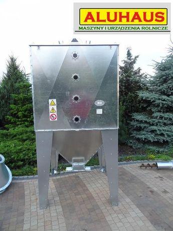 Zbiornik Silos BIN pojemnik do paszy zboża pelletu 2000 litrów ocynk