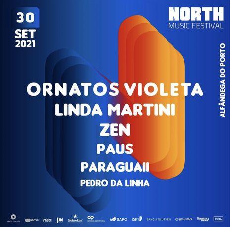 2 bilhetes para north music festival