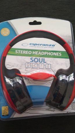 Słuchawki audio stereo klasyczne nauszne Esperanza Soul EH138R NOWE