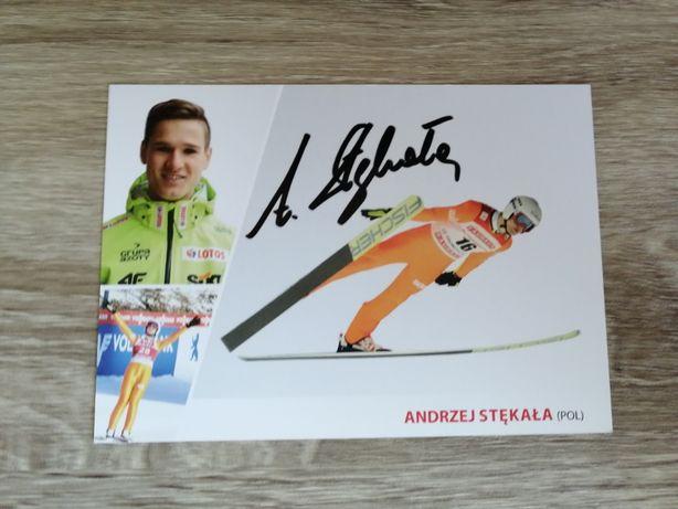 Autograf Andrzej Stękała skoki narciarskie
