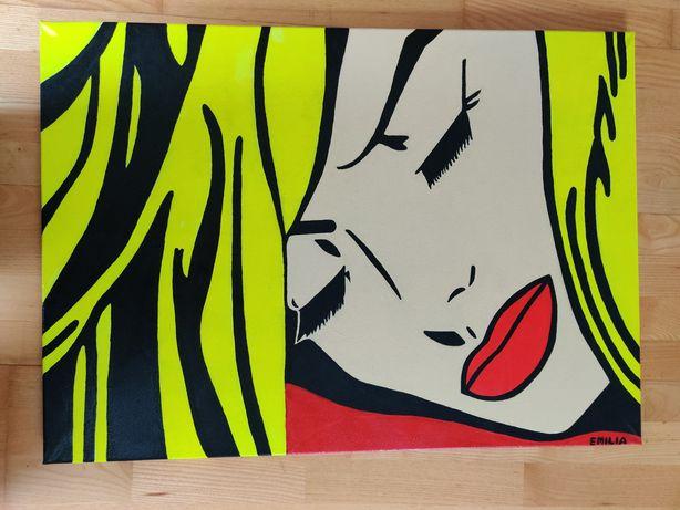 Obraz Śpiąca Kobieta ręcznie malowany