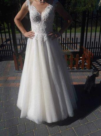 Suknia ślubna, rozmiar 38, stan idealny + welon gratis!!!