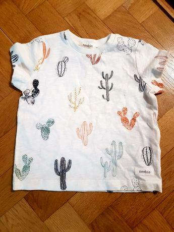 Nowy t shirt newbie 74 6-9 m