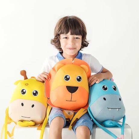 Детский рюкзак Nohoo Жираф, Львёнок, Бегемот