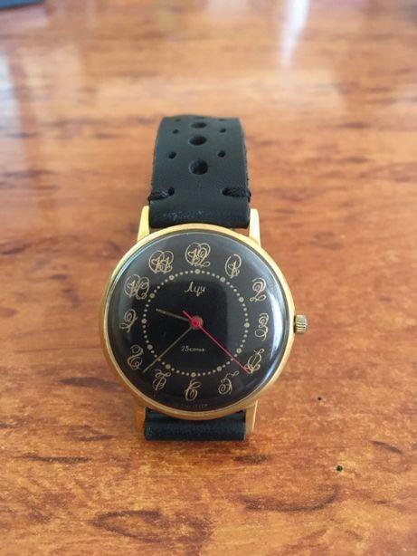 Продам редкие наручные мужские часы Луч СССР с узорами!