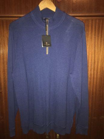 Camisola de malha com fecho marca Massimo Dutti