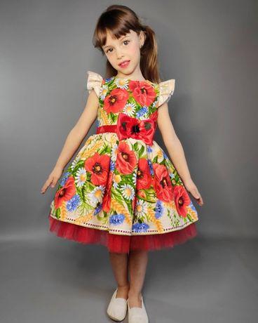 Платье пышное детское для девочки в садик на выпускной 104,110,116,122