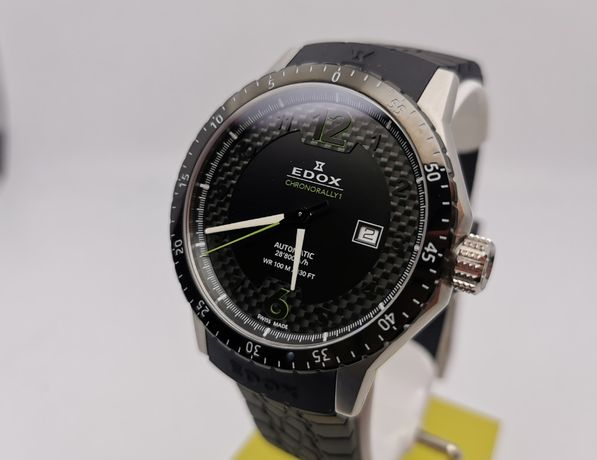 Nowy zegarek EDOX chronorally automat 80094 NV 3N swiss made
