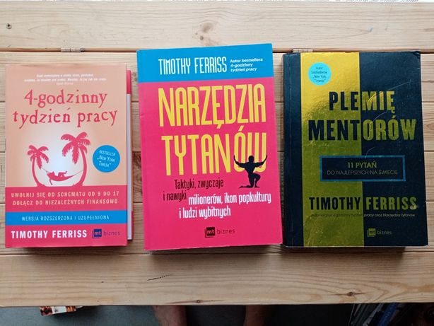 Timothy Ferris pakiet  3 książek lub osobno