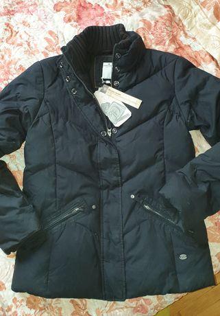 Пуховик натуральный пух Том Тейлор чёрный куртка зимняя Tom Tailor