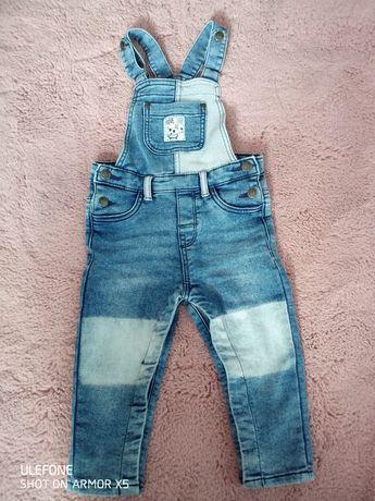 Spodnie spodenki ogrodniczki 86