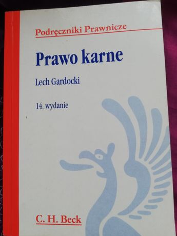 Książka prawo karne Lech gardocki