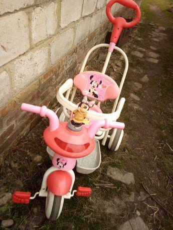 Велосипед с ручкой родительской