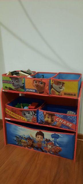 REGAŁ Organizer na zabawki PSI PATROL szafka dziecięca