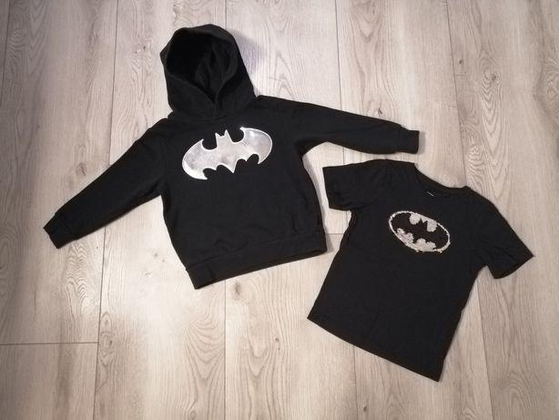 Zestaw Batman OBRACANE CEKINY T-shirt 110/116 House bluza H&M