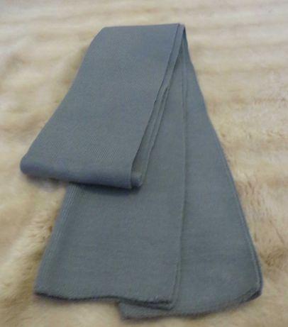 Cachecol malha, cinzento liso - Comp. 1,55 m