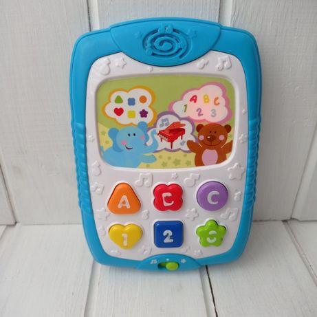 Озвученый детский планшет. Музыкальный телефон