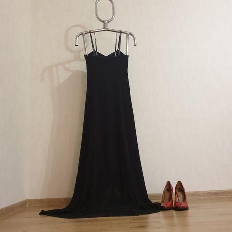 Элегантное черное платье Vera Mont Versace как Chanel