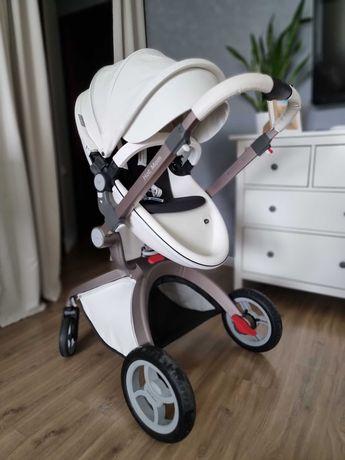 Универсальная детская коляска Hot Mom 2 в 1 / Белая 2020 год