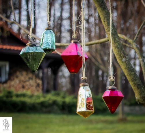 Kryształy wiszące - dekor świąteczny do domu i ogrodu
