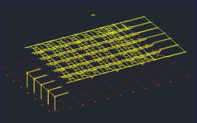 Konstrukcja stalowa dachu bez elementów złącznych