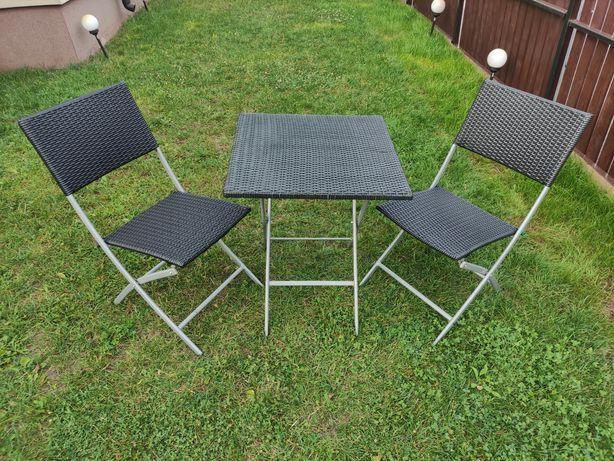 Meble ogrodowe Składany stół i krzesła na balkon