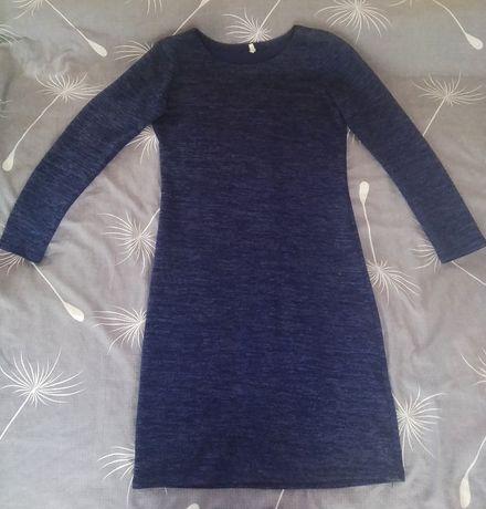 Платье тёмно-синее ангора.