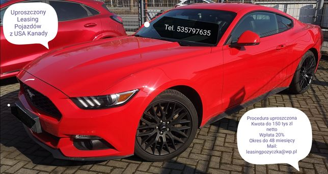 Ford Mustang Leasing Uproszczony do 150 tys netto Usa Kanada