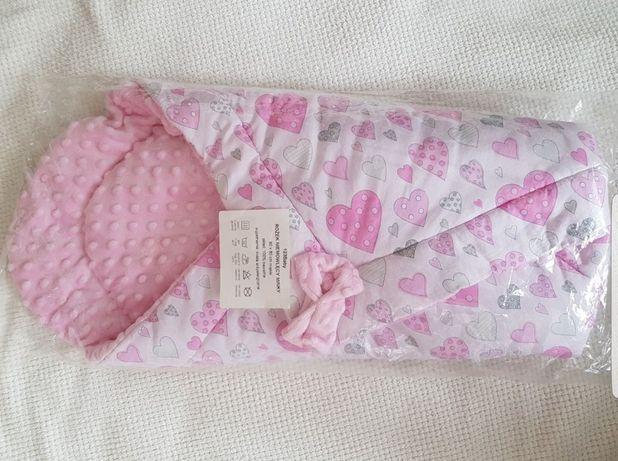 Nowy rożek niemowlęcy kolderka kocyk otulacz