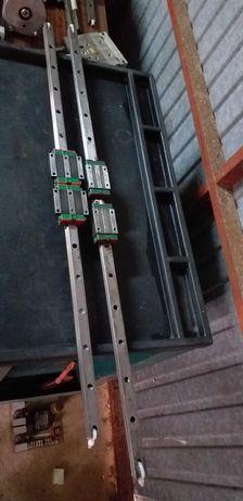 vendo guias lineares hiwin  de 20mm  com perfil  de 90x45