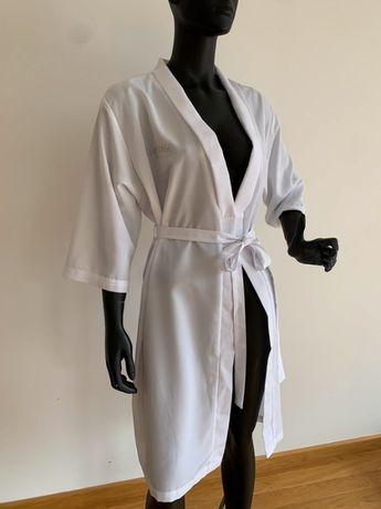 Kerastase Paris nowy szlafrok domowe SPA onesize biały z paskiem
