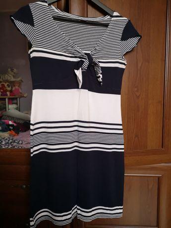 Śliczna sukieneczka w paski marynarska rozm 38-40