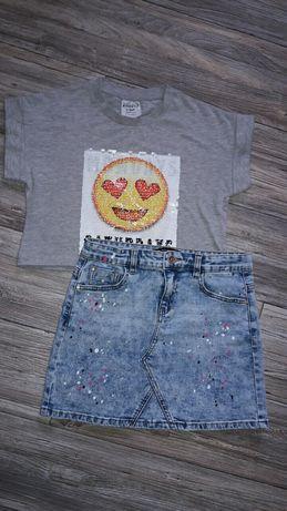 Джинсовая юбка 9-12 лет