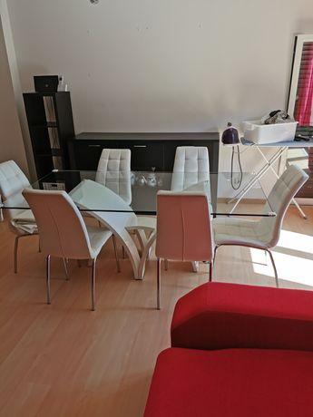 Mesa de vidro sala de jantar