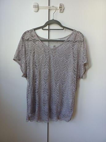 Koszulka bluzka ażurowa koronkowa george 40