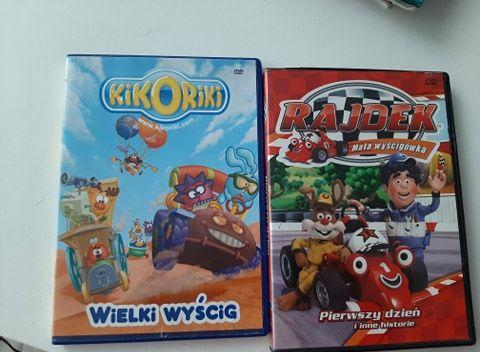 Bajki DVD Rajdek i KIKORIKI bajki o wyścigówkach i wyścigach