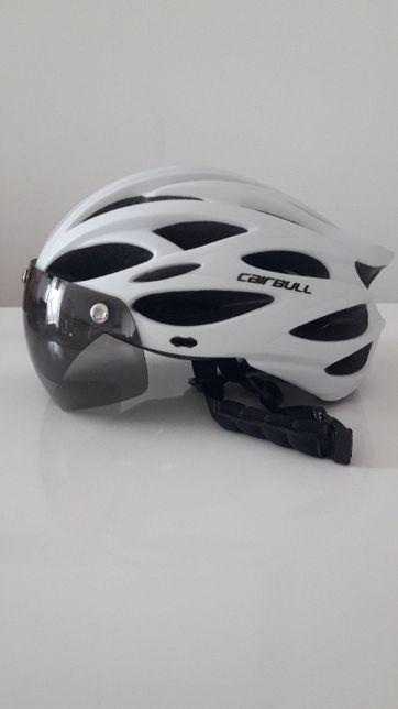 Kask rowerowy z wizjerem Cairbull mtb wentylacja