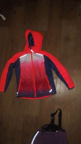 Куртка Softshell Crivit оранжево-синяя омбре яркая термо лыжная теплая