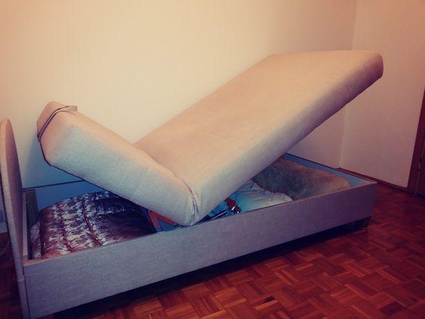 Łóżko, tapczan z podnoszonym zagłowkiem Jak NOWY