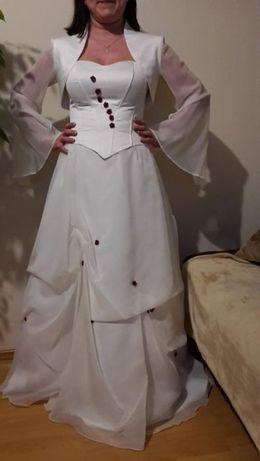 sprzedam nietuzinkową suknię ślubną kolor ecri !!!