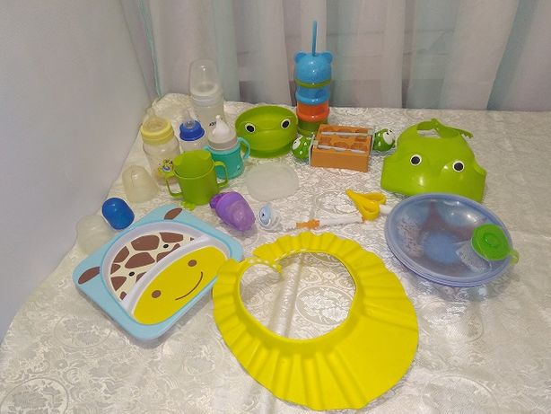 Детская посуда ,тарелочки ,бутылочки ,сочки и , пустышки