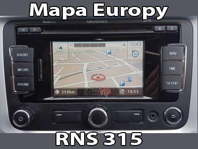 Aktualizacja Nawigacji Mapa Europy V12 VW Skoda RNS310 315 PL Menu