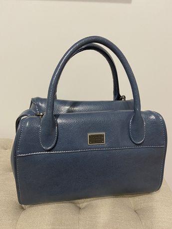 Женская сумка трендового пепельно-синего цвета